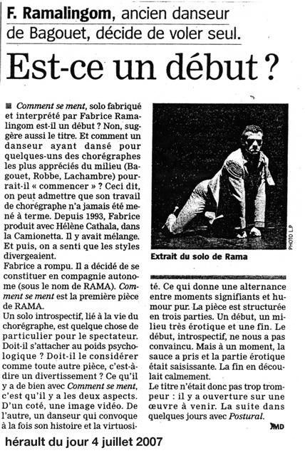 L'Hérault au jour le jour – 4 juillet 2007