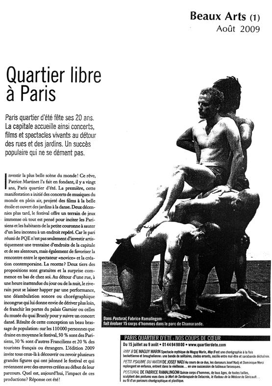 POSTURAL études – Beaux Arts – août 2009