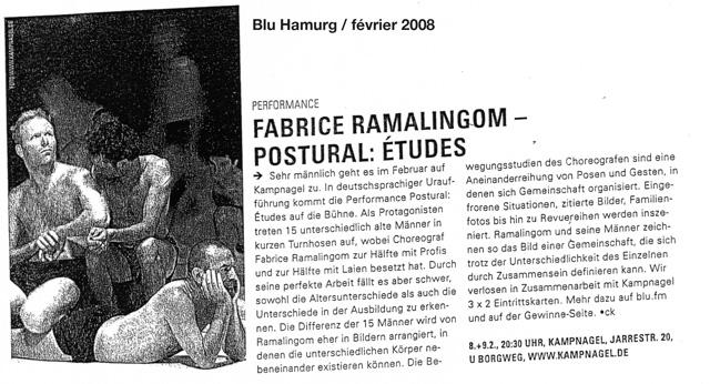 POSTURAL études – Blu Hamurg – février 2008