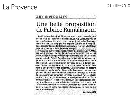 Comment se ment – La Provence – 21 juillet 2010