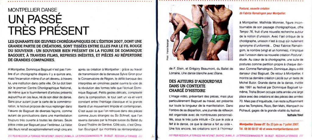 Postural : études – La Terrasse – juillet 2007