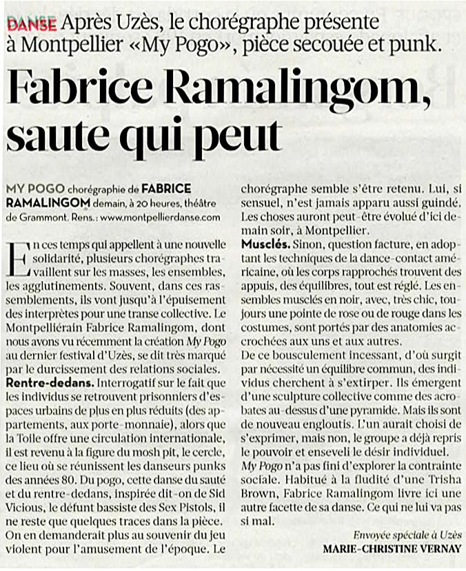 My Pogo – Libération – 28 juin 2012