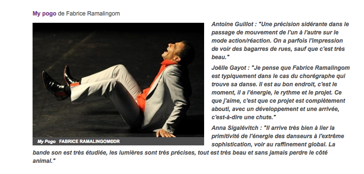 My Pogo – France Culture « La dispute » – 2 juillet 2012